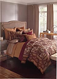 Bloomingdale\'s 1872 Harlow 100% Cotton Quilted Euro Pillowsham, Gold