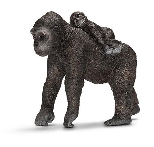 Schleich シュライヒ 動物フィギュア ゴリラ(メスと仔)  14662