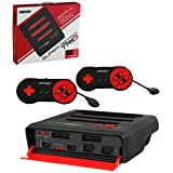 Retro-Bit Super RetroTRIO Console NES/SNES/Genesis 3-In-1 System - Red/Black