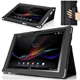 MoKo Slim Folding Cover Case for Sony Xperia Tablet Z 10.1 inch, BLACK (with Smart Auto Sleep / Wake Feature, Will NOT Fit Xperia Z2 Tablet)