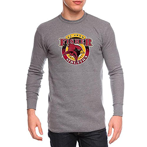 St. John Fisher College Cardinals Mens Long Sleeve Thermal Shirt Distressed Logo Design (Medium) (St John Fisher compare prices)