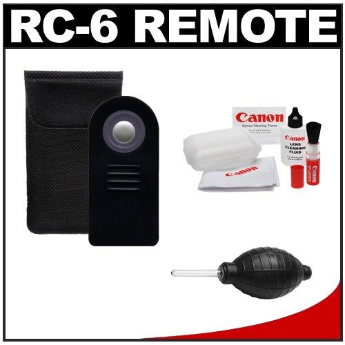 RC-6 Wireless Shutter Release Remote Control + Cleaning Kit for Canon Rebel XSi, T1i, T2i, T3i & EOS 60D, 7D Digital SLR Cameras