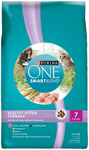 Purina ONE SmartBlend Dry Cat Food, Healthy Kitten Formula, 7-Pound Bag, Pack of 1