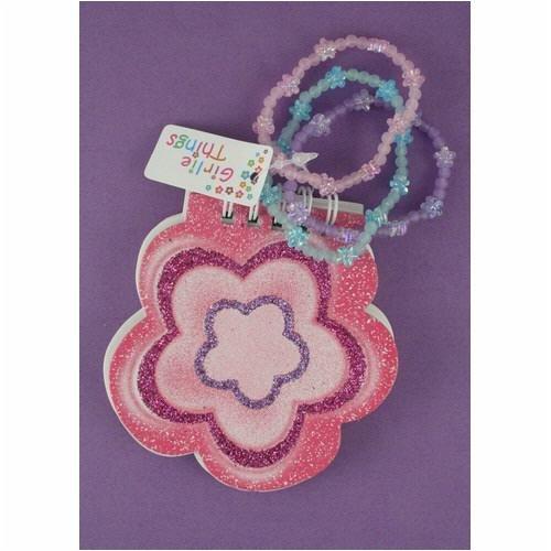 Girls Daisy Notebook with 3 Girls Bracelets