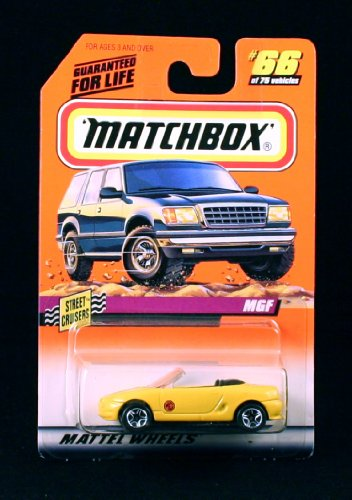 MGF * YELLOW * Street Cruisers Series 10 MATCHBOX 1998 Basic Die-Cast Vehicle (#66 of 75)