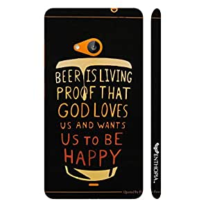 Nokia Lumia 535 BEER IS A PROOF designer mobile hard shell case by Enthopia