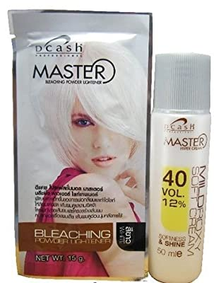 Dcash Master Hair Bleaching Powder Lightener Kit : White 15g