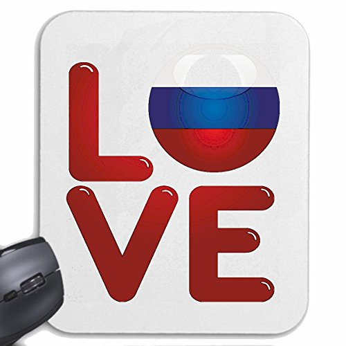 "'Tappetino per mouse (Mouse) ""I Love Russia Ich liebe RUSS Land russi Russin congedo di Klitschko vacanza obiettivo holiday per il Laptop, Notebook o Internet PC.. (con Windows Linux ecc.) in bianco"