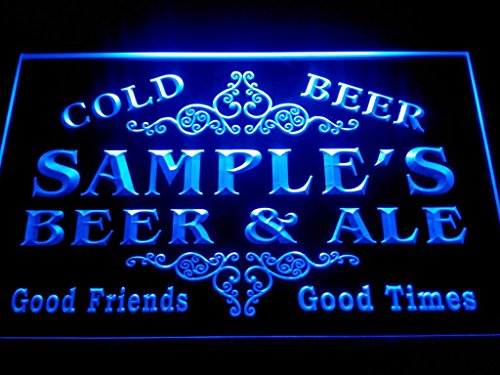 C B Signs Custom Personalized Led Sign Vintage Bar Beer And Ale Neon Light Sign - Great Personalized Gift Idea! - Blue