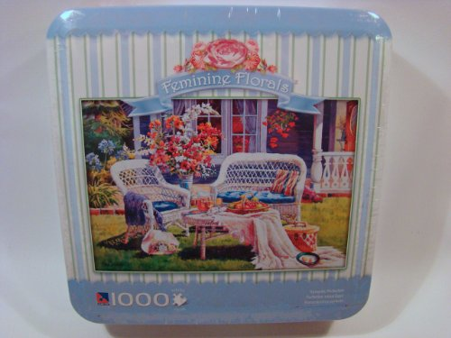 Feminine Florals 1000 Piece Jigsaw Puzzle in Tin: Romantic Perfection
