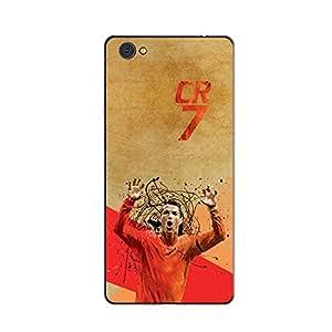 ezyPRNT Back Skin Sticker for Vivo X5 Pro Cristiano Ronaldo 'CR' Football Player 6