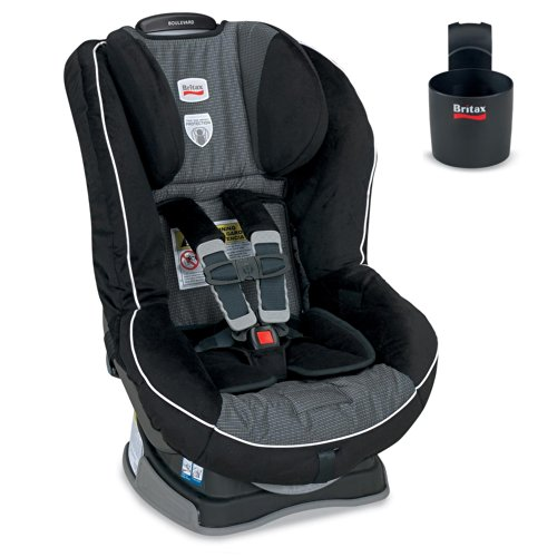 Britax Boulevard G4 Convertible Car Seat W Cup Holder - Onyx back-921395