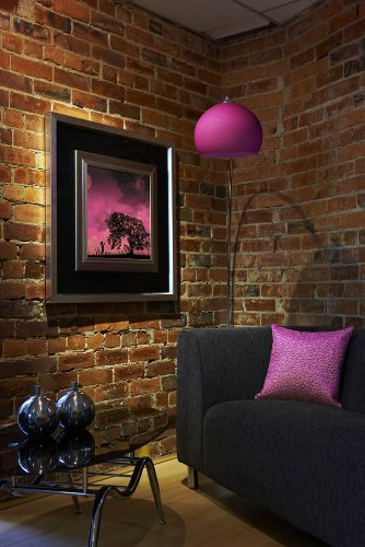 Retro Arco Pink Glass Standard / Floor Lamp LO RET PK