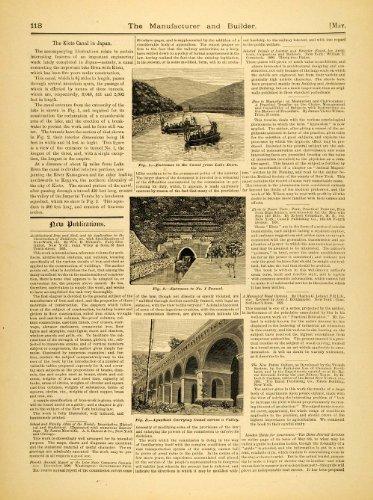 1891 Article Kyoto Canal Japan Lake Biwa Tunnel