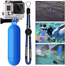XCSOURCE® Monopod Buceo Manija de Mano del Apretón de Flotante Floating Bobber+ Tornillos+ Accesorios Flotantes de Muñeca Strap para GoPro Hero 2 3 3 + 4 OS98 Azul