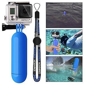 XCSOURCE® Poignée Grip flottant Bobber Manfrotto plongée + Vis + Wrist Strap accessoire de courroie de poignet pour GoPro Hero 1 2 3 3+ 4 blue OS98