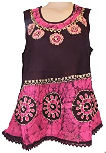 Hippie Batik Print Sleeveless Tank top Handcrafted in Indai