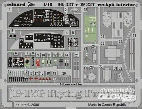 1/48 Photo Etch Set B17G Fly Fortress Ckpt IntRVL EDU49337