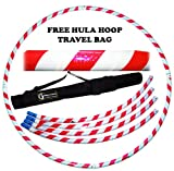 HULA HOOPS - Collapsible Hula Hoop - White / UV Pink + FREE Travel Bag!