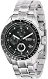 Fossil Fossil Mens Stainless Steel Chronograph Black Dial Watch