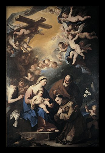 WallsnArt-Holy-Family-Venerated-By-Giordano-Luca-Synthetic-Paper-Painting