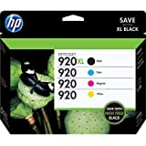 HP 920XL/920 High Yield Black and Standard Color Ink, Combo Pack