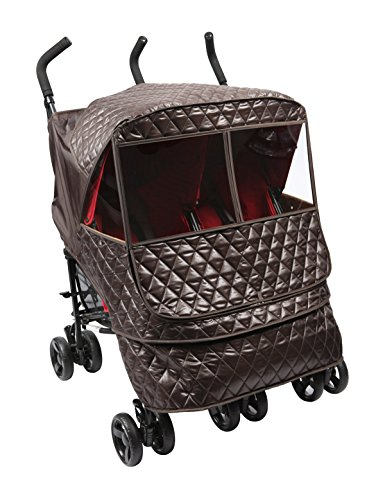 Manito Castle Alpha Twin Stroller Weather Shield (Chocolate) - 1