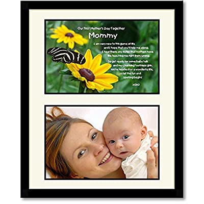 Mommy Gift from Baby Daughter or Son - Sweet Poem in 8x10 Frame - Add 4x6 Photo by Poetry Gifts