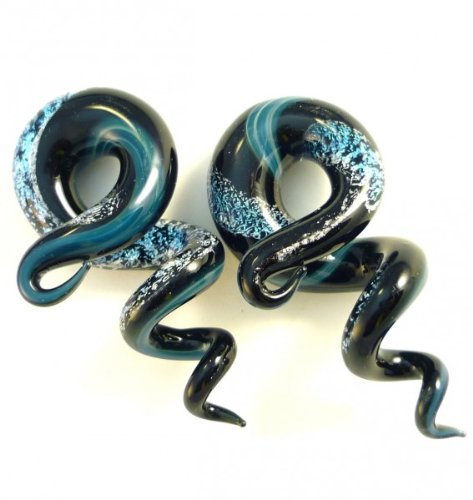 0g 8mm Dichroic Squidz Plugs Shape