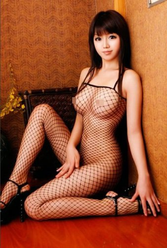 Sexy Petite fishnet body stocking - very sexy