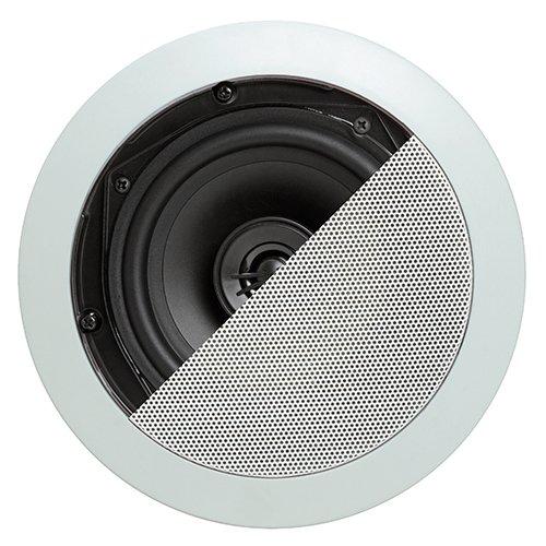 """Cmple - 5.25"""" Surround Sound 2-Way Wall/Ceiling Sound System Of 2 Speakers (10-20 Watt) - Round"""