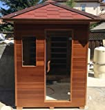 (2015) 3 PERSON SIERRA/RUSTIC CANADIAN CEDAR OUTDOOR INFRARED SAUNA