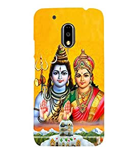 Shiva Paravati Cute Fashion 3D Hard Polycarbonate Designer Back Case Cover for Motorola Moto G4 Play