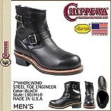 (チペワ)CHIPPEWA 1901M10 7 INCH STEEL TOE ENGINEER 7インチ スティールトゥ エンジニア ブーツ Eワイズ ブラック US9.5-27.5 (並行輸入品)