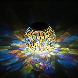 Amazon.co.jpGOSHOPガーデンライト ソーラーLED 高級ガラス製 ソーラーライト おしゃれ 照明 イルミネーションライト 自分用はもちろん、プレゼントにも最適。(多彩)