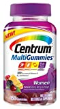 Centrum Women MultiGummies Multivitamin/Multimineral Supplement (Natural Cherry, Berry, & Orange Flavor, 150-Count Gummies)