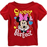 Minnie Mouse Baby-Girls Infant Disney Sweet and Perfect Bow Tee, Red, 24 Months