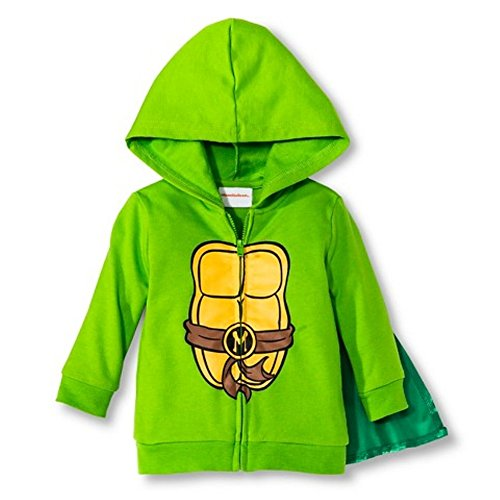 TMNT Teenage Mutant Ninja Turtles Toddler Halloween Caped Sweater Hoodie - 4T