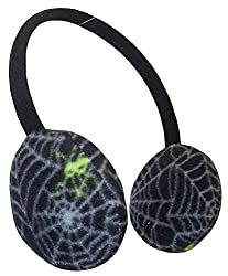 N'Ice Caps Boys Neon Spider Adjustable Earmuffs (One Size, Black/Grey/Neon Green)