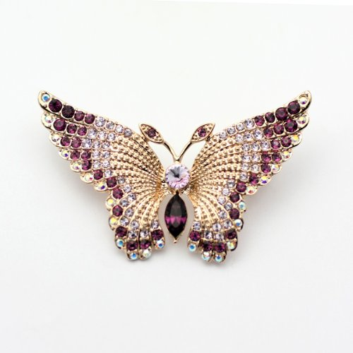 Austrian Swarovski Crystal Fashion Lady Pin Brooch -Beautiful and The Highest Quality Austrian Crystal with Elegant Butterfly Design6cm W x 4 cm H Comes With Free Swarovski Jewelry Box,Attractive and Gorgeous . Super Saving w/100% Satisfaction Guaranteed ! A Great Gift For Your Friends or Loved Ones.