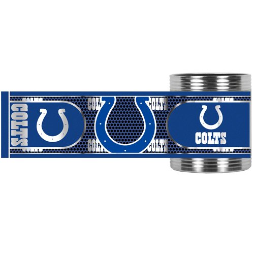 Nfl Indianapolis Colts Metallic Can Holder, Stainless Steel front-1032278
