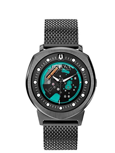 bulova-accutron-ii-mens-quartz-watch-with-black-dial-analogue-display-and-black-stainless-steel-brac