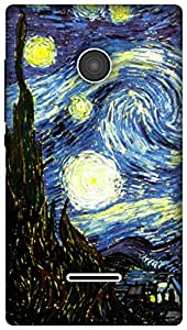 The Racoon Grip The Starry Night hard plastic printed back case / cover for Microsoft Lumia 532