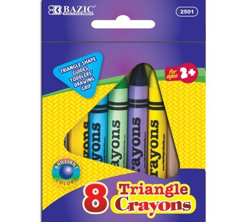 BAZIC 8 Color Premium Quality Super Jumbo Triangle Crayon - 1