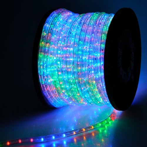 150ft christmas lighting led rope light multi color w connector 1620 detail shop 150ft christmas lighting led rope light multi color w connector 1620 led bulbs rope light 150 ft w power cords connectors holiday strip ribbon aloadofball Gallery