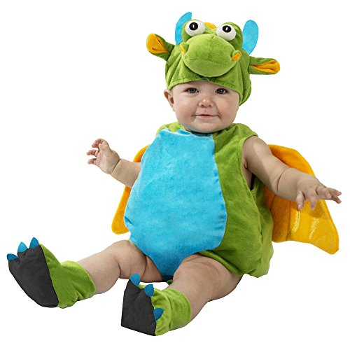 Boo Babies Halloween Costume Green Lil Dragon Sz 9-18 Months 4 Pieces Wings