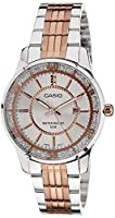Casio Enticer Analog Silver Dial Women's Watch -  LTP-1358RG-7AVDF (A896)