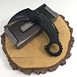 Wartech Thumb Open Spring Assisted Eagle Angle Aluminum Color Handle Karambit Pocket Knife (PWT241BK)