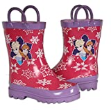 Disney Frozen Girls Anna and Elsa Pink Rain Boots - Sizes Infant Toddler