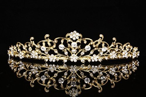 flower-vine-design-bridal-tiara-crown-clear-crystals-gold-plating-t710-by-venus-jewelry